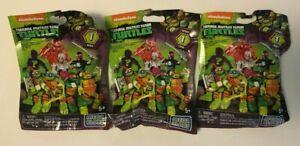 Mega Bloks Teenage Mutant Ninja Turtles Series 1 Figures Lot of 3, NEW