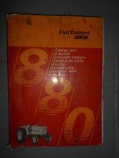 Fiat tracteur 880 880DT : catalogue de pièces 1975