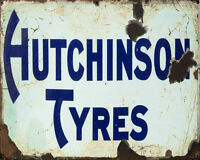 Hutchinson Tyres Sign ENAMEL TYPE METAL TIN SIGN WALL PLAQUE