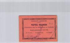 Belgique Commune d'Assebroek 20 Francs 20.5.1940 n° 988