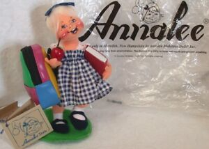 """ANNALEE DOLL SOCIETY Teacher's Pet """"99-'00 & Indian Girl Mouse 2006 New w Tags"""