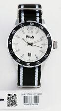 FILA Herren Uhr TEXTILBAND schwarz weiß NEU  38-822-003