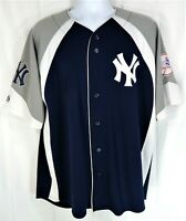 Vintage Majestic New York Yankees Derek Jeter 2 Navy Spell Out Jersey Mens L