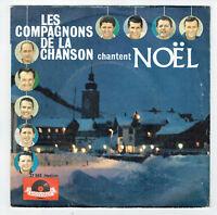 LES COMPAGNONS DE CHANSON Vinyl 45T EP CHANTENT NOËL Noel POLYDOR 27065 Papier