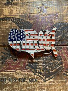 1992 America Patriotic Brass Belt Buckle by Great American Buckle Co.
