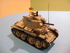 LEGO LOT #71 CUSTOM WW2 WORLD WAR 2 GERMAN PANZER 38t TANK WITH MINI FIGURE