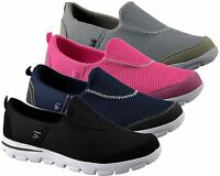 Ladies Womens New Slip On Walk Pro Leisure Tone Up Plimsolls Trainers Shoes Size
