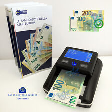 Rilevatore conta banconote false Verifica soldi falsi aggiornato 100€ 200€ 2019