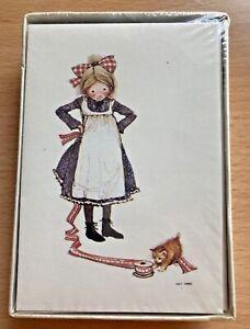 (10) Vintage American Greetings HOLLY HOBBIE Box 5 x 3.5 Cards Envelopes Kitten