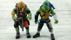 """2015 TMNT Teenage Mutant Ninja Turtles 10"""" Action Figures Lot of 2"""
