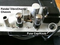 One Vintage Fender Vibrochamp + Others Fuse Cap Knob Only OEM NOS NEW