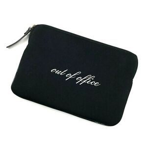 Kate Spade iPad Mini Sleeve Case Out of Office Black Neoprene Zip Soft 8.5 x 6
