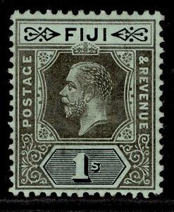FIJI GV SG134b, 1s black/blue-green, LH MINT.