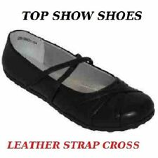 100% Leather Mary Janes Wide (E) Shoes for Women