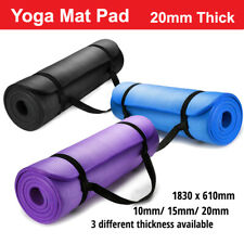 Thick Yoga Mat Pad 10/15/20MM NBR Nonslip Exercise Fitness Pilate Gym Durable AU