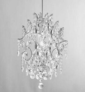 Chrome Crystal Pendant Modern 1 Light Crystal Glass Sphere Light shade Easy Fit