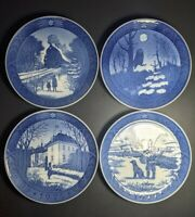 Set Of 4 Royal Copenhagen Christmas Plates 1973 - 1974 - 1975 - 1977 Denmark