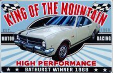 KING OF THE MOUNTAIN MONARO TWO DOOR 1968. 327 Auto Memorabilia Metal tin Sign