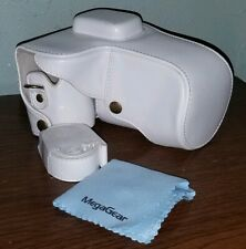 """MegaGear """"Ever Ready"""" Protective White Leather Camera Case Samsung NX300"""