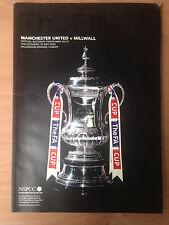 Away Teams L-N Millwall Football FA Cup Fixture Programmes