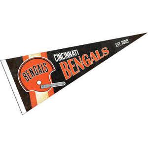 Cincinnati Bengals Throwback Vintage Retro Pennant Flag