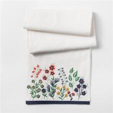 """THRESHOLD White Floral Table Runner, 72"""" x 14"""""""