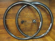 VELOCITY AEROHEAD CLINCHER SPEED CIFIC 10 SPEED CAMPAGNOLO TRIPLE BLACK WHEELSET
