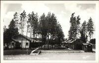 Coeur d'Alene ID Cedar Motel Real Photo Postcard