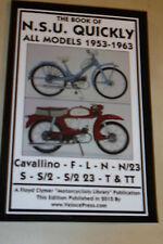 BOOK OF NSU QUICKLY MANUAL CAVALLINO F L N N/23 S S/2 23 T & TT 1953-1963