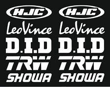 HJC Leo Vince Showa Motorsport Sponsoren Aufkleber Racing Set für Motorrad Auto