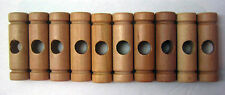 Wooden Tinker Toys Parts Lot: 10 Couplings Wood Replacement Tinkertoy Pieces