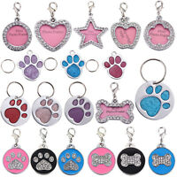 Crystal Feet Pet Cat Dog ID Tags Personalized Customized Alloy Identity Label