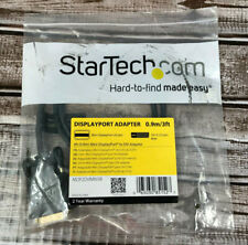 StarTech 3ft Mini DisplayPort to DVI Adapter Converter Cable - Black New