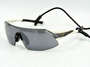Tifosi Podium XC Sunglasses, Rimless Shield Sport Wrap. White / Gray #84G