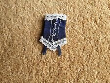 Dolls House Ladies Blue and White Corset brand new