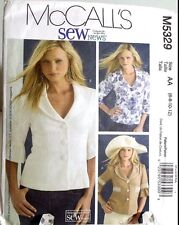 Lined Jacket Button Front Blouse Top Sewing Pattern M5329 Size 10 McCalls