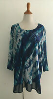 JM Collection Embellished Ribbed Tunic Blouse Plus Size 2X