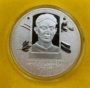 Tyrus Raymond Cobb Baseball's Greatest Players Hall Of Fame Silver Coin -4