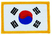 FLAG PATCH PATCHES SOUTH KOREA KOREAN  IRON ON COUNTRY EMBROIDERED WORLD FLAG