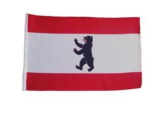 Fahne Flagge Berlin 30x45 cm mit Schaft