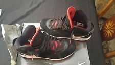 2010 Nike Air Max Lebron 8 Viii Black White Red Size 11.5 417098-002 Pre owned