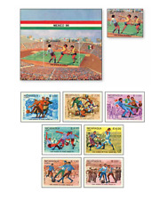 NIC85022 Football 8 stamps and block