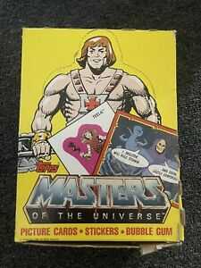 Rare MASTERS OF THE UNIVERSE Trading Cards Complete Box Sharp Packs NOS MOTU