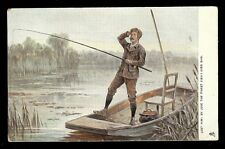 Lost Him By Jove Finest Fish I Ever Saw Fishing Postcard