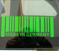 Strichcode Aufkleber BARCODE MADE IN GERMANY CODE camber STATIC sticker 16