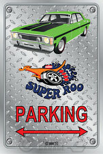 Parking Sign Metal - Ford XW GT 351 Super Roo - lime frost