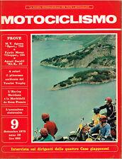 MOTOCICLISMO 09/1973 (MV AGUSTA 750 SPORT, FANTIC CHOPPER 125, GARELLI KLE 50)