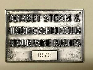 Great Dorset Steam Fair 1975 Appearance Plaque from the show's archive