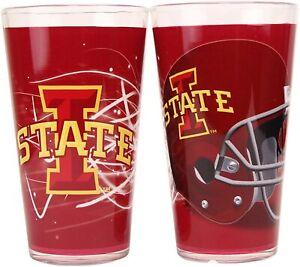 2-Tone Pint Glass Set NCAAVolt 16 oz Iowa State Cyclones