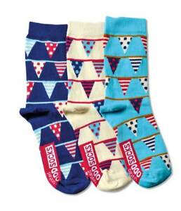 NEW Bunting Flags Design Ladies Mix and Mismatch Odd Socks -  Size 6-10